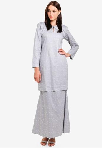 Butik Sireh Pinang grey Maissa Modern Kurung C1D8BAA7A27857GS_1