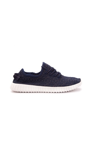 Wade navy Lace Up Sneakers WA436SH41LPAPH_1