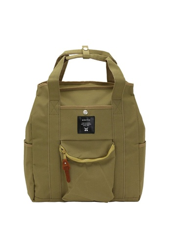 Anello brown 2way Tote Bag & Rucksack Backpack-Beige AN821AC19BYMHK_1