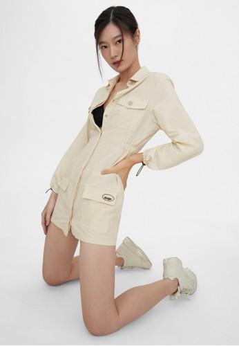 Pomelo white Utility Mini Dress - Off-White 8F57EAAA5D838EGS_1