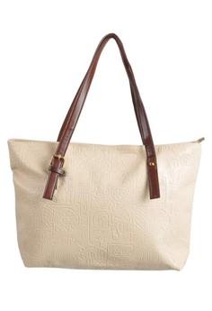 Women PU Leather Shoulder Bag -Beige
