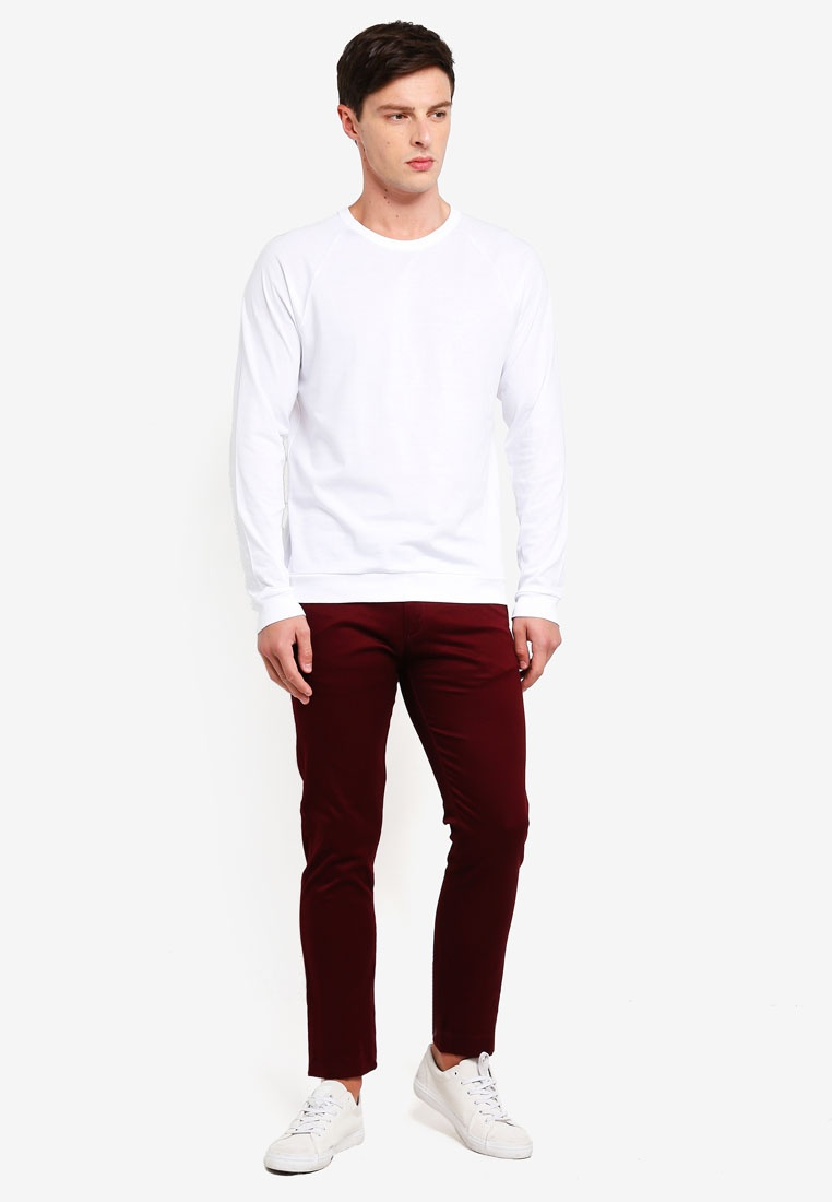 J Stretch 484 Classic Pants Chino Burgundy Crew aBW4qfgwW