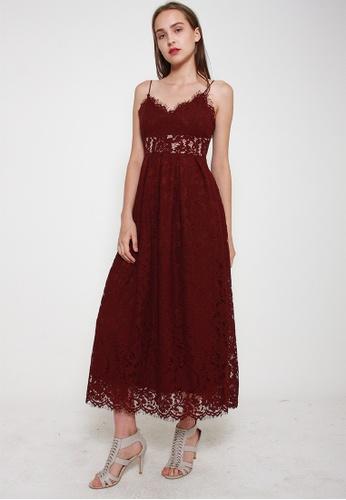 Leline Style red Kyra Lace Dress 14DEDAA100B707GS_1