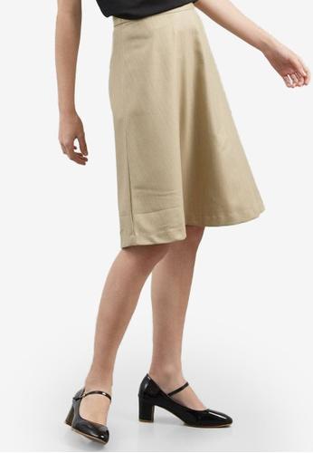 Berrybenka brown Elfa Skirt CAD03AA4BB115BGS_1