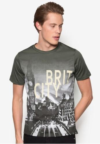都市景觀esprit女裝設計TEE, 服飾, 印圖T恤