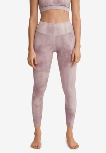 Mango pink Printed Sporty Leggings F342AAA0D7F8F9GS_1
