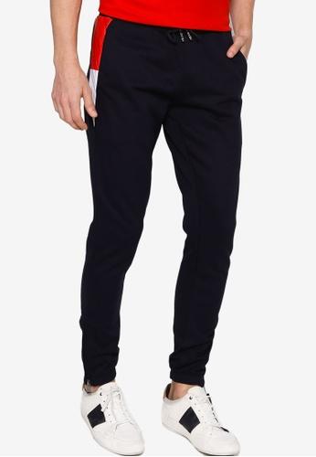 Tommy Hilfiger black Mix Media Colorblock Sweatpants 5E20DAA2D42A23GS_1