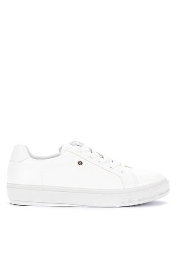 CLN white Tagaytay Lace Up Sneakers 5F207SH7852B34GS_1