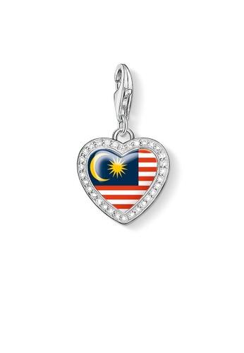 "THOMAS SABO silver Charm Pendant ""Heart Flag Malaysia"" 5ABC0AC770D423GS_1"
