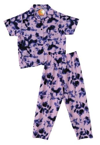 Tahlia pink Piyama Tie Dye Tahlia One Set Pyjamas 4AA12AAEA75D49GS_1