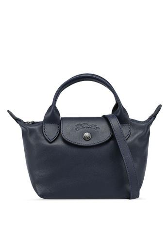 LONGCHAMP blue Le Pliage Cuir Top Handle Bag XS (nt) 46B05AC4C06203GS_1