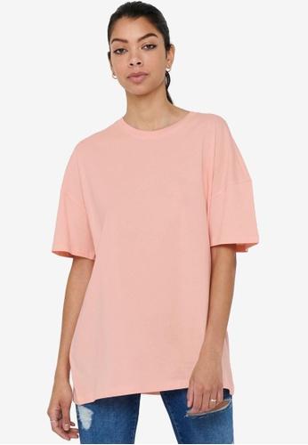 ONLY pink and orange Aya Life Oversized T-Shirt 65EDCAA567DF07GS_1