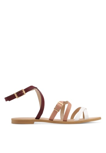 ZALORA multi Strappy Sandals E596BSH53F83D0GS_1