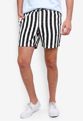 7fde2e1bb2 Buy Topman Black And White Pull On Shorts Online on ZALORA Singapore