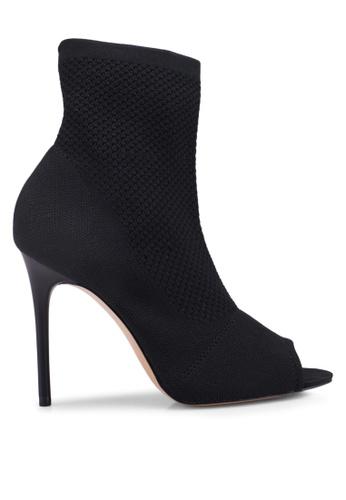 Mango black Peep-Toe Sock Ankle Boots 7EB2DSHE74B6E9GS_1