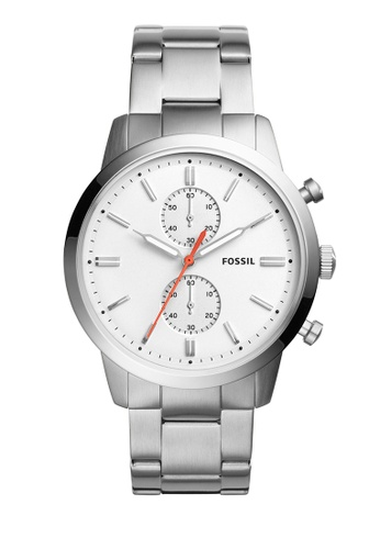 Fossil white and silver 44mm Townsman Chronograph Watches FO359AC0K93LPH_1