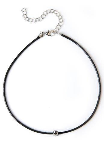YOUNIQ black YOUNIQ-Basic Korean Dotty Choker (Silver Black) YO999AC38MBDMY_1