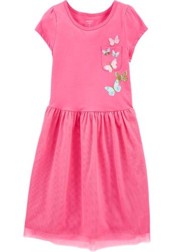 Carter's pink CARTER'S GirlPink Pocket Butterfly Jersey Tutu Dress E85D2KAD05CC3BGS_1