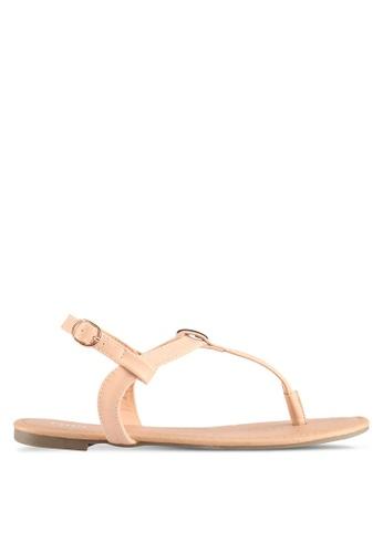 Rubi brown Everyday Aubrey Metal Toe Post Sandals 0AFCBSHC53A30DGS_1