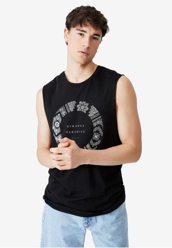 Cotton On black Tbar Muscle Tank Top 72082AA576FD04GS_1