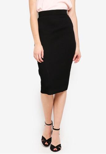 Vesper black Vesper Agnes Ribbed Midi Skirt 2C09CAA5BC57DCGS_1