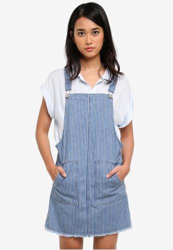 Cotton On multi Denim Pinafore Dress 0AE16AA1748A78GS_1