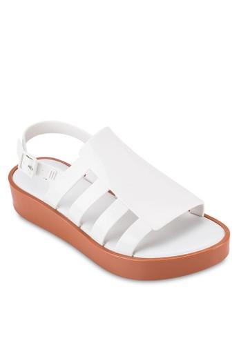 Boeesprit outlet 高雄mia 側鏤空多帶露趾厚底涼鞋, 女鞋, 鞋