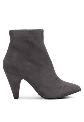 Dorothy Perkins grey Grey Ada Vintage Heeled Boots DO816SH0RV4JMY_1