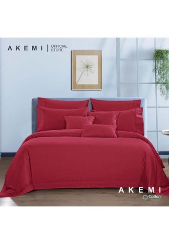 AKEMI red AKEMI Cotton Select Affinity - Monaco Jill Kyoto Red (Fitted Sheet Set) EBF94HL2E9E534GS_1