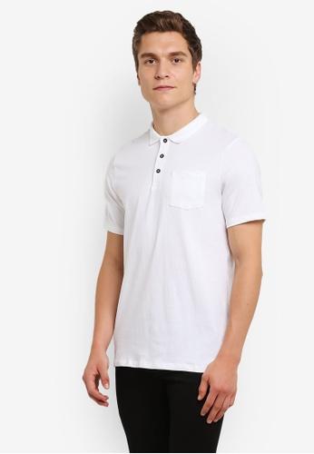 Burton Menswear London white Stretch Fit Polo Shirt BU964AA0RULOMY_1