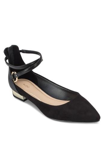 Besprit retailiacci 尖頭交叉繞踝平底鞋, 女鞋, 鞋