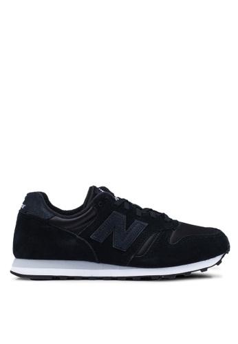 New Balance black 373 Lifestyle Shoes 643AASH878A371GS_1