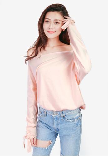 Tokichoi pink Off Shoulder Blouse 492ABAA9DAA477GS_1