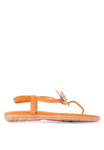 St3p orange Butterfly Sandals ST395SH41LXMMY_1