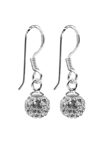 Elfi silver Elfi 925 Genuine Sterling Silver Zirconia Stud Earring SE-4M EL186AC65RJMMY_1