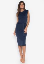 DEBENHAMS navy Principles - Prn Jersey Midi Dress 4EE2EAA9E5523AGS_1