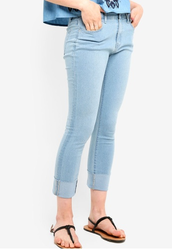 Something Borrowed blue Rolled Up Cuffed Jeans 00536AAED454EDGS_1