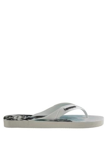 Havaianas black and white Surf 18 Flip Flops 8AF4BSHD81BDB5GS_1