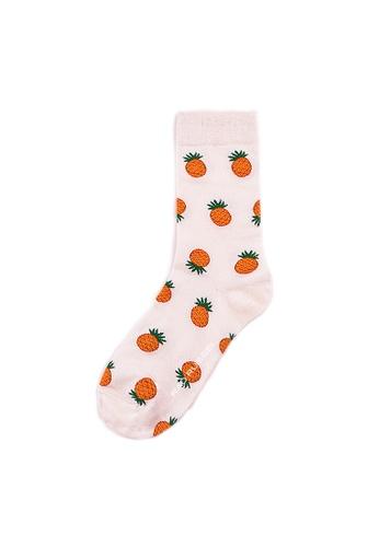 Rad Russel multi Rad Russel Ladies Patterned Socks- 70303 D46F6AA9649E02GS_1