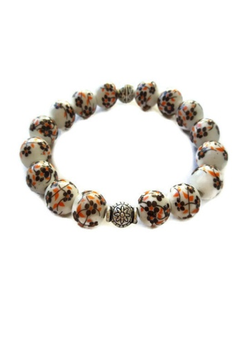 Be Lucky Charms white Feng Shui Ceramic Bead Orange/Black and White  BE436AC73LZYPH_1