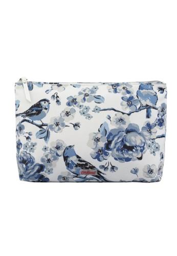 Cath Kidston blue Meadowfield Birds Poly  Zip Wash Bag CA820AC0JBC4PH_1