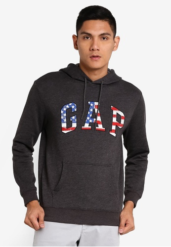 GAP grey Logo Arch Flag Sweatshirt 94D13AA6370C6FGS_1
