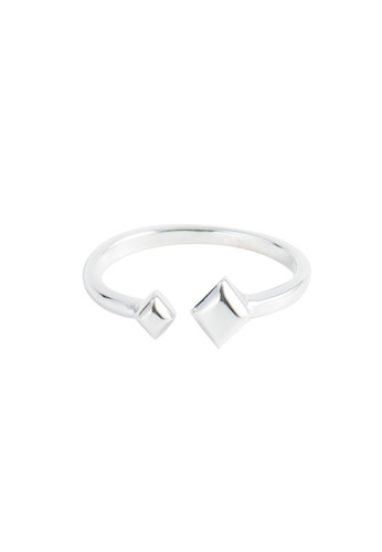 A-Excellence silver Premium S925 Sliver Geometric Ring C2B5EACBA6DBF2GS_1