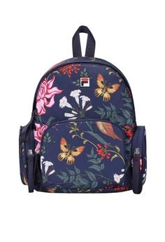 12ecca590db6 Fila navy FILA x Jason Wu Floral-print Backpack D2E3DAC6C05D54GS 1