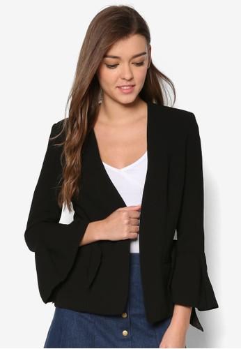 Bambi 喇叭長袖開襟外套、 服飾、 外套BardotBambi喇叭長袖開襟外套最新折價