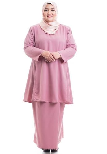 Ashura pink Hanaa Kurung Pahang Plus Size 4CC13AAD968A9AGS_1