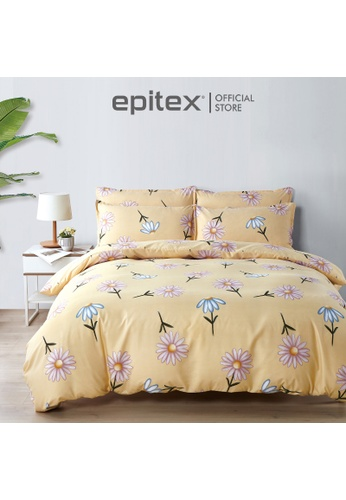 Epitex multi Epitex Silkysoft 900TC SP9052-1 Fitted Sheet Set (w quilt cover) - Bedsheet - Bedding Set - Quilt Cover Set 99986HLE66B812GS_1