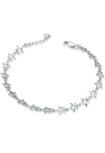 MaBelle silver 14K/585 Whiter Gold Stars Bracelet 11BD9AC53A3095GS_1