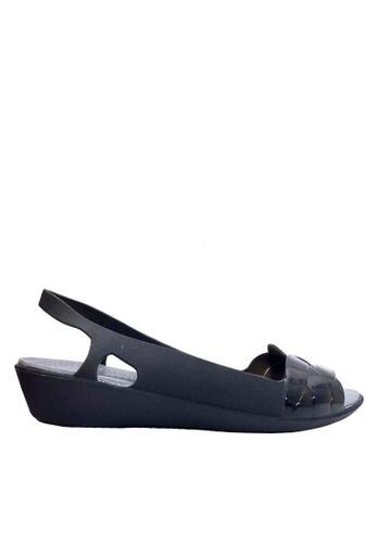 Twenty Eight Shoes 黑色 編織帶果凍雨涼鞋 VR925 D3D24SH15D08CAGS_1