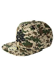 Baem Korea Military Inspired Pixel Camouflage Pattern Snap-back Fashion Baseball Cap